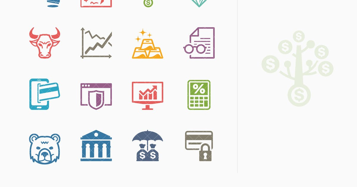 Download Colored Personal & Business Finance Icons - Set 1 by Unknow