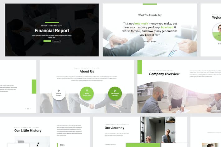 Thumbnail for Financial Report Powerpoint Presentation