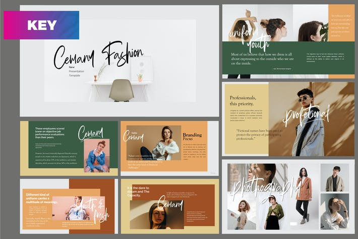 Thumbnail for Cemany - Fashion Keynote Template