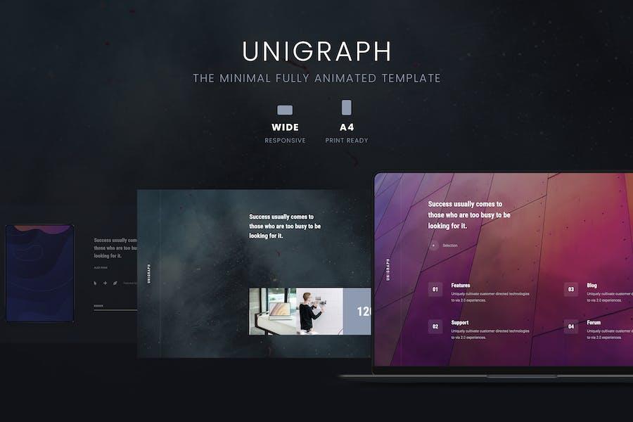 UNIGRAPH - Animated & Creative Template (KEY)