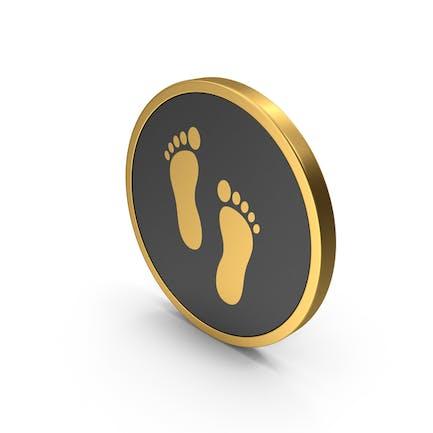 Gold Icon Footprint