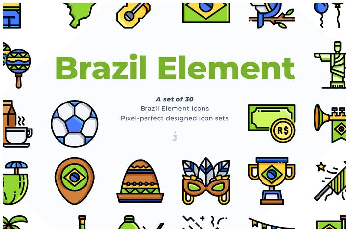 Thumbnail for 30 Brazil Element Icons