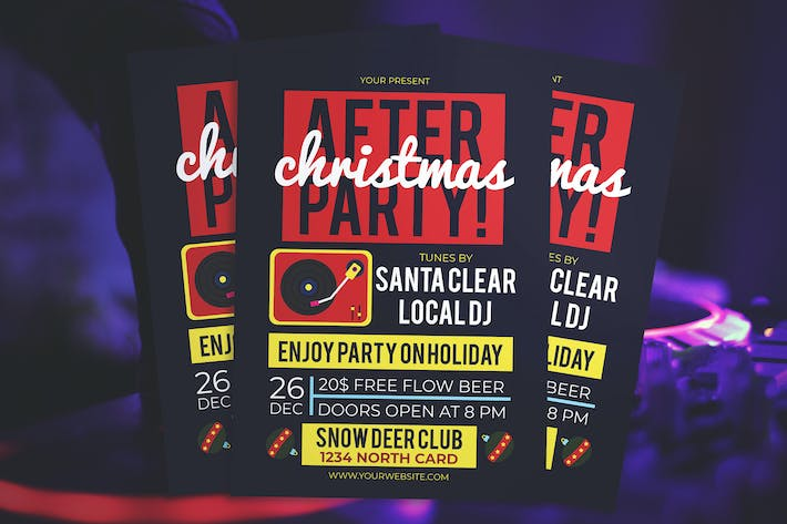 Thumbnail for Christmas After Party Flyer