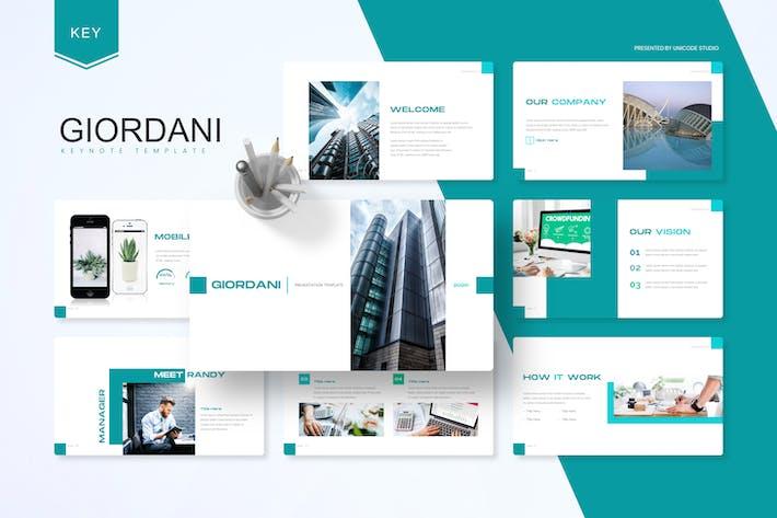 Thumbnail for Джордани - Шаблон ключевых заметок бизнеса