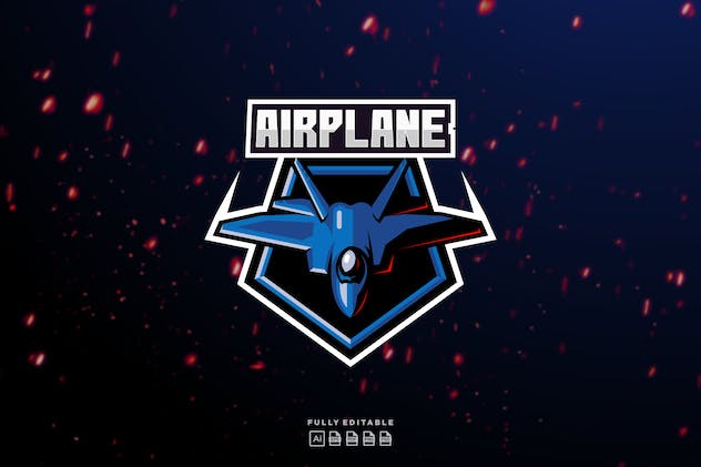 Airplane Jet Aero Fly logo - product preview 1