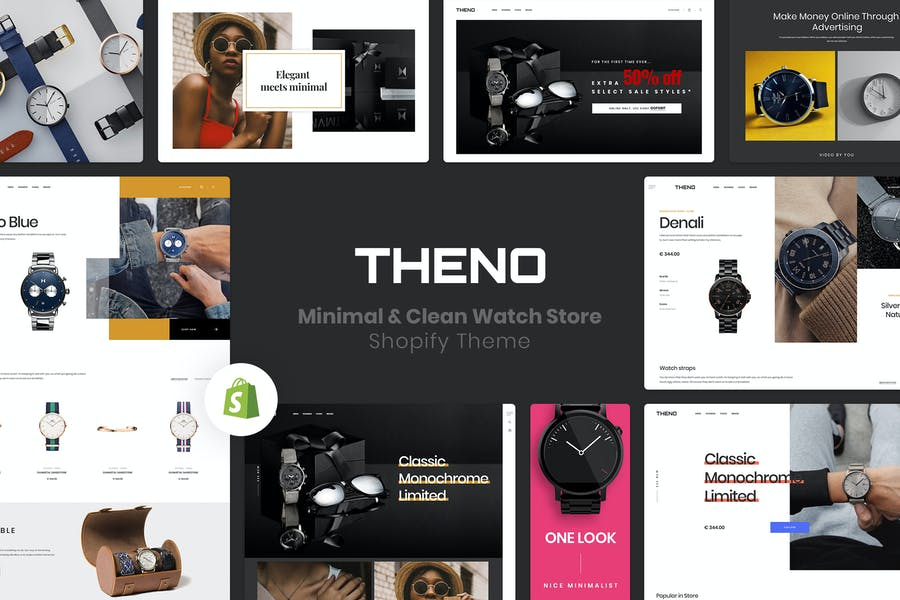 THENO | Minimal & Limpio Watch Store Shopify Tema