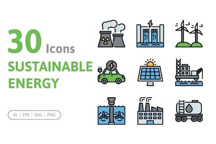 30 Sustainable Energy Icons