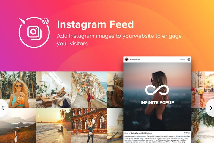 Thumbnail for WordPress Instagram Feed Plugin