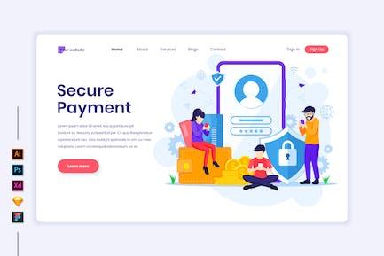 Secure Payment Illustration - Agnytemp