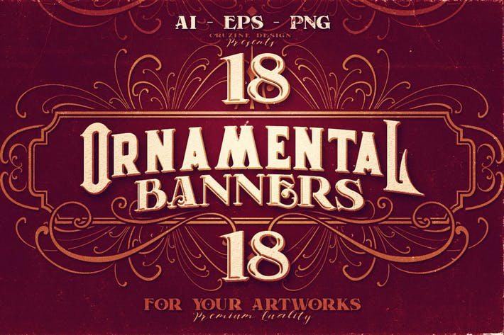Thumbnail for 18 Ornamental Banners