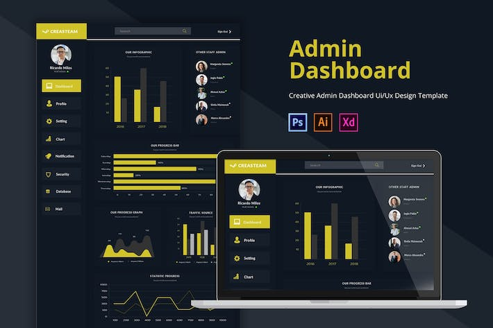 Thumbnail for Creasteam Admin Dashboard