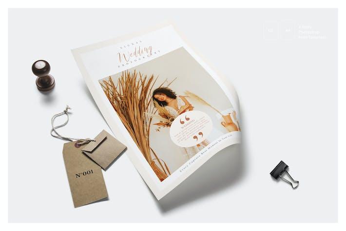 Hochzeitsfotografie Preisliste Flyer