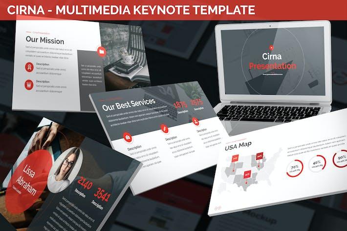 Thumbnail for Cirna - Multimedia Keynote Template