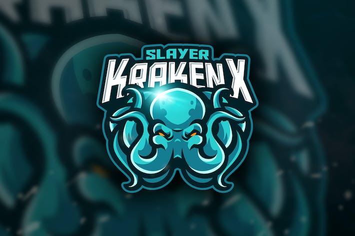 Thumbnail for Slayer KrakenX - Mascot & Esport Logo