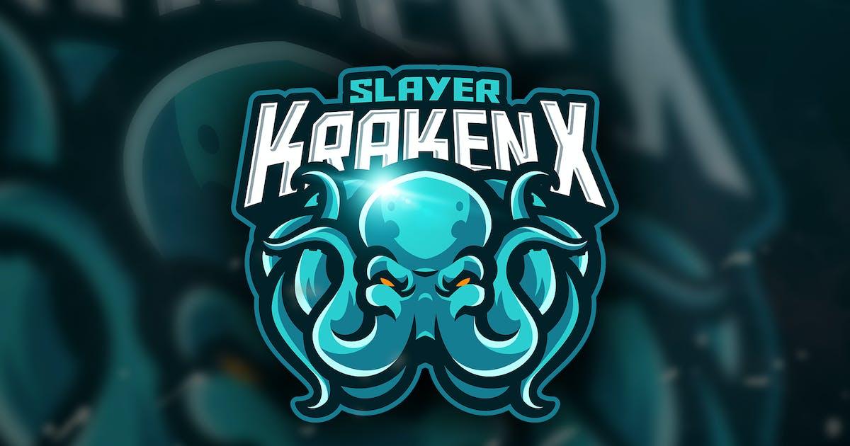 Download Slayer KrakenX - Mascot & Esport Logo by aqrstudio