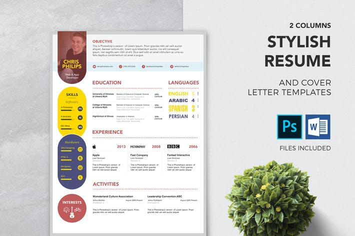Thumbnail for Stylish Resume & Cover Letter Template