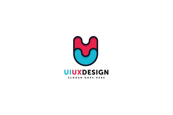 Cover Image For Ui Ux Design Logo Template