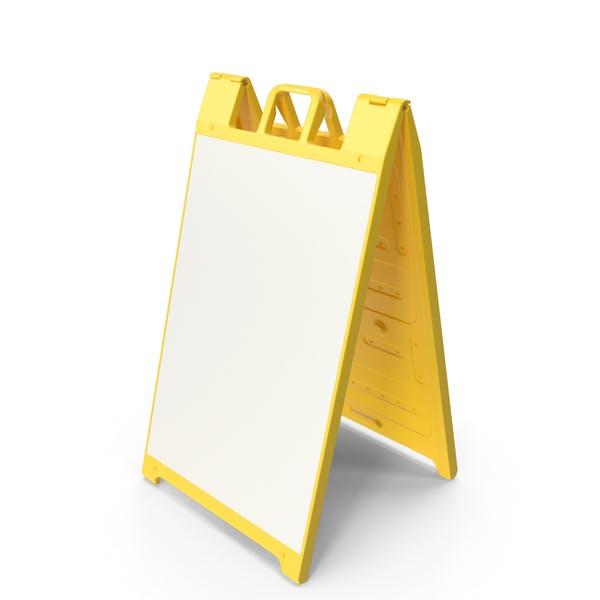 Sandwich Board Yellow