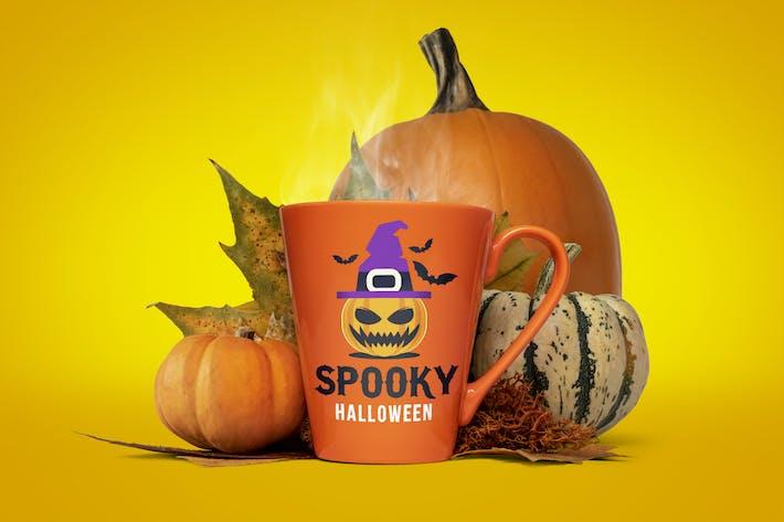Thumbnail for Halloween mug mockup