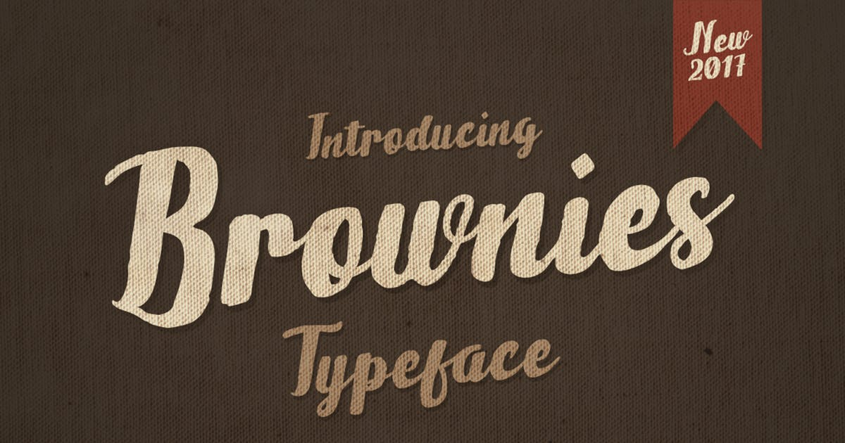 Brownies Typeface by giemons