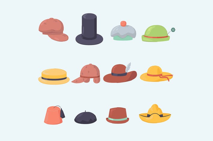 Thumbnail for Various Hats and Caps Collection