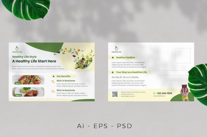 Thumbnail for Carte postale Healthy Life