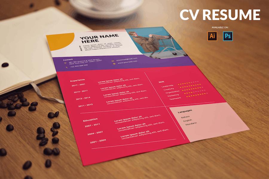 CV Resume Creative And Professional