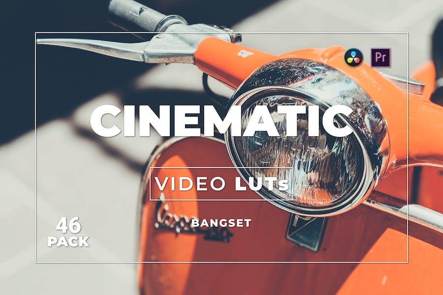Набор кинематографических материалов Bangset 46 Видео LUTs