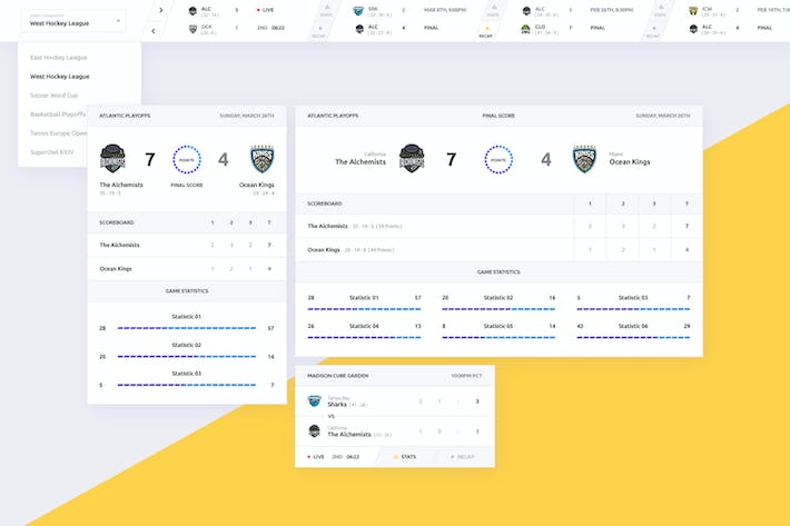 Thumbnail for Sports and eSports Match Results UI Widget V2