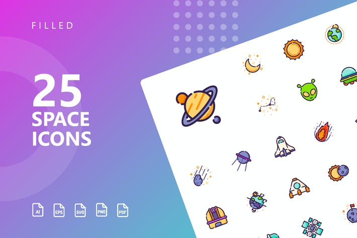 Thumbnail for Space Filled Icons
