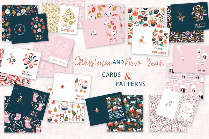 Thumbnail for Christmas cards and patterns