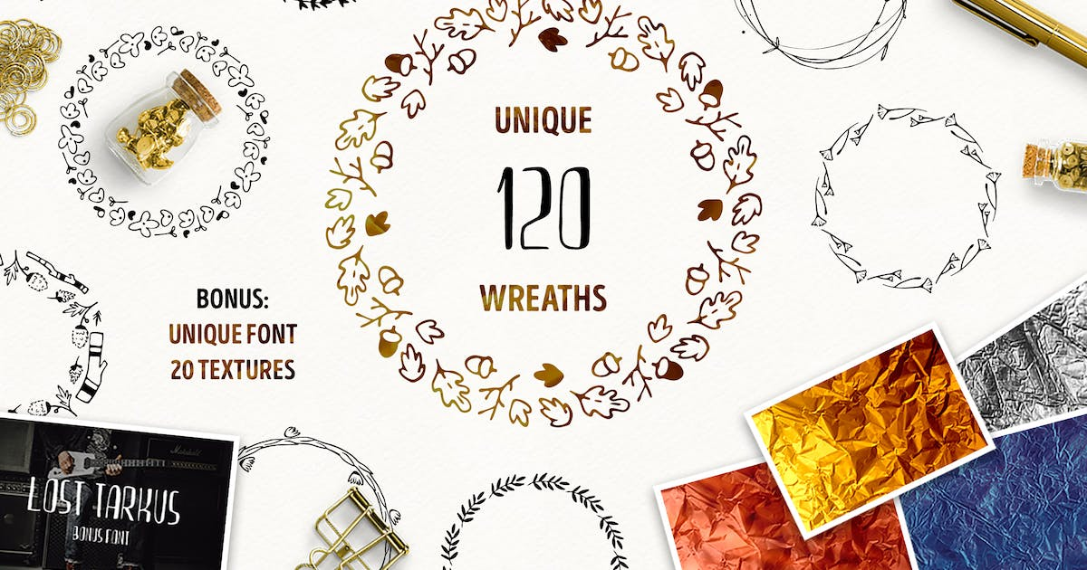 Download 120 Unique Wreaths by Oxana-Milka