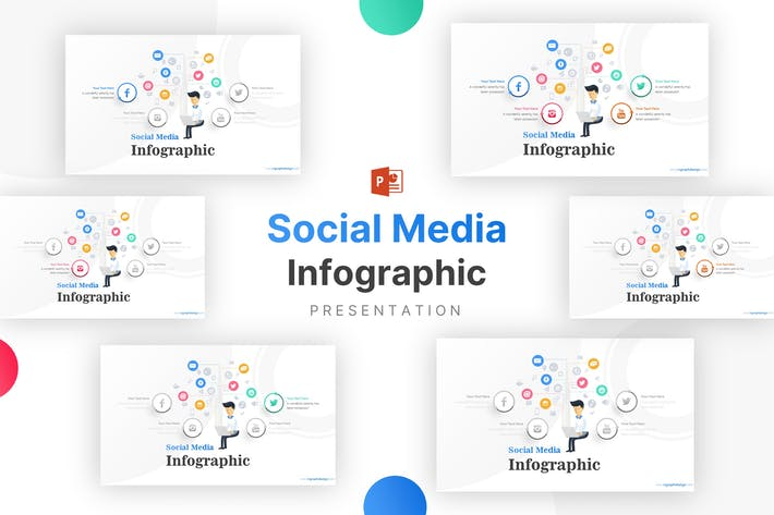 Thumbnail for Social Media and Technology Icons Infographic