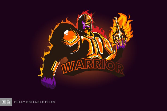 Thumbnail for Warrior Esports Logo