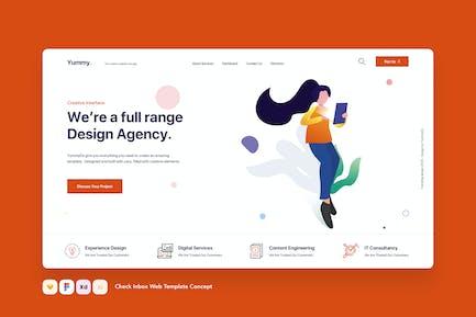Check Inbox Web Template Concept