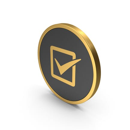 Icon Check Gold
