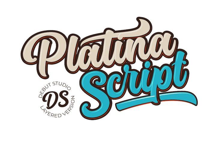 Thumbnail for Platina Script en capas