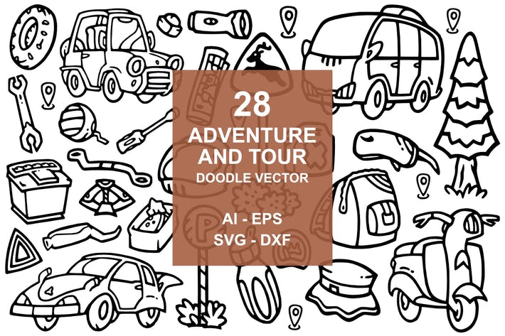 Cover Image For 28 Adventure doodles