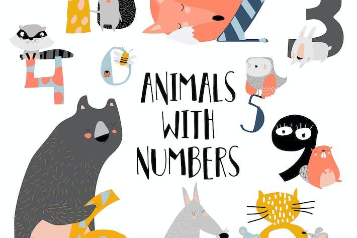 Thumbnail for Zeichentrickdarstellung von Zahlen von eins bis ni