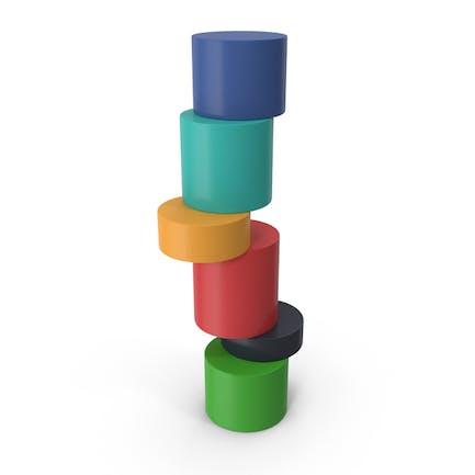 Infographic Cylinder Ladder Chart