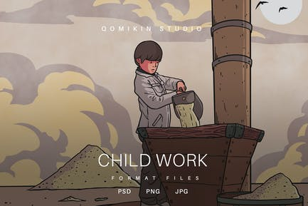Illustration der Kinderarbeit