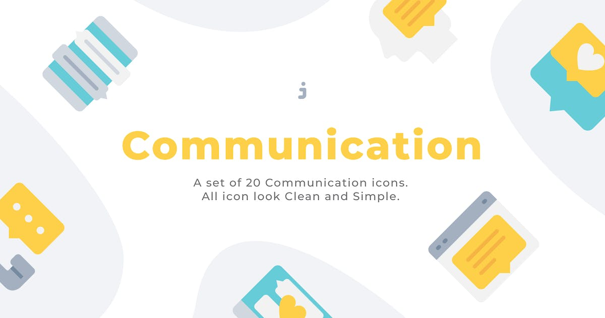 Download 20 Communication icons - Flat by Justicon