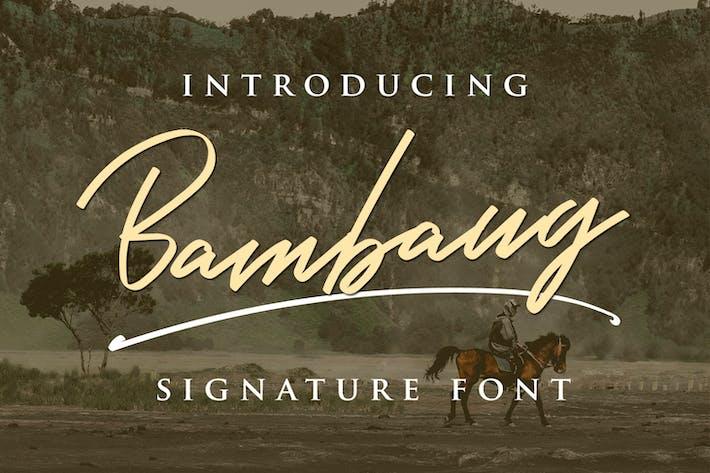 Thumbnail for Bambang - Signature Font