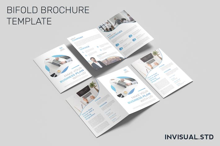 Thumbnail for Business Bifold Brochure Template