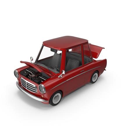 Мультфильм автомобиль с открытой капюшоном