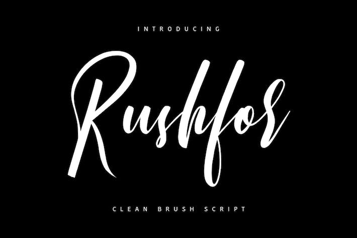 Thumbnail for Rushfor Typeface