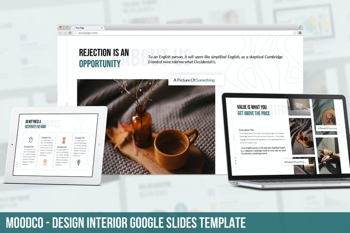 Thumbnail for Moodco - Design Interior Google Slides Template