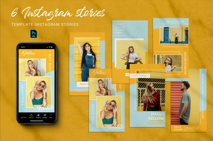 Thumbnail for Yellow Instagram Stories