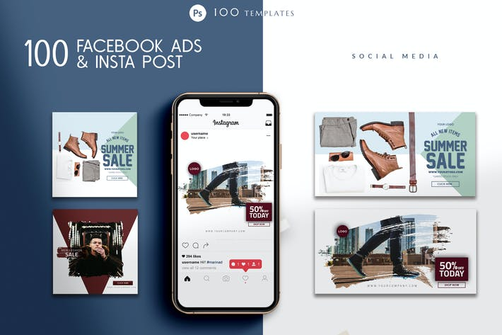 Thumbnail for Facebook Ads and Instagram Templates