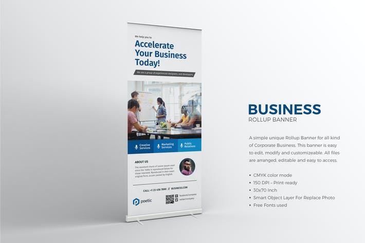 Thumbnail for Corporate Business Roll-up Banner